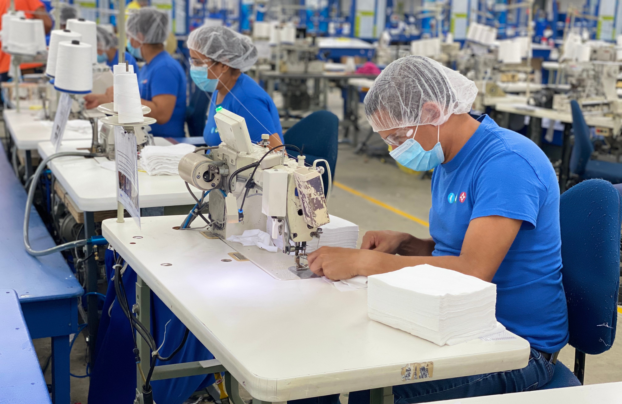 PPE-production at one of Gildan's sewing facilities in Honduras